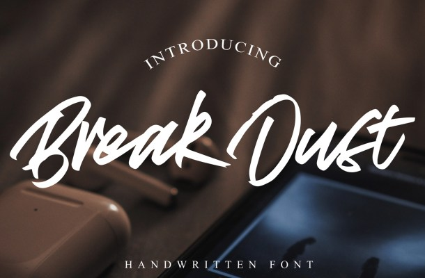 Break Dust Script Brush Font