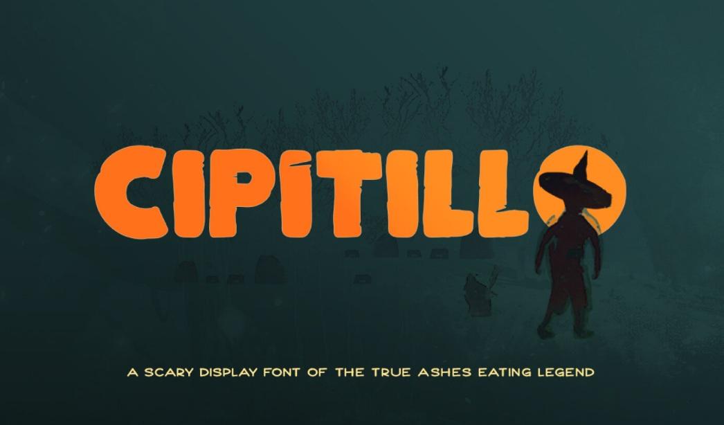 Cipitillo Horror Fancy Font-1