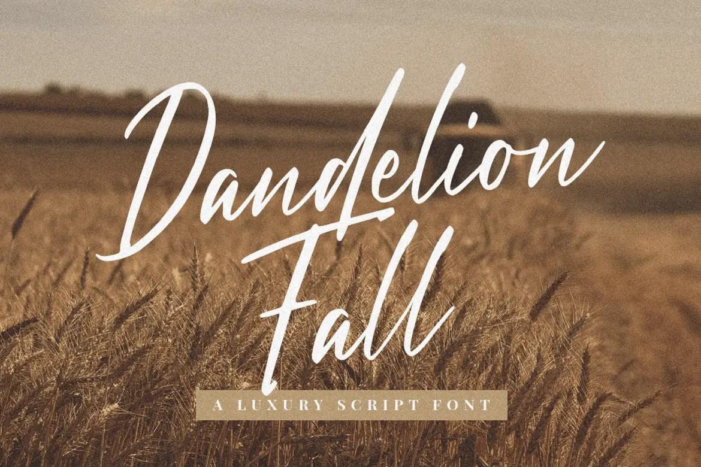 Dandelion Fall Handwritten Script Font-1