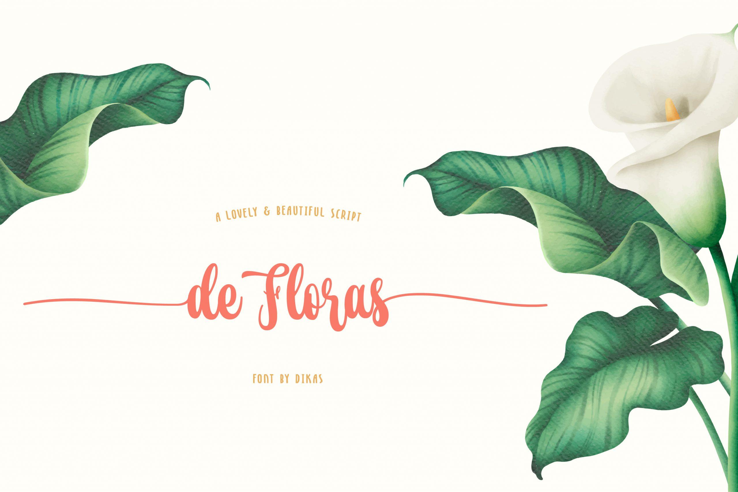 De Floras Script Calligraphy Font-1