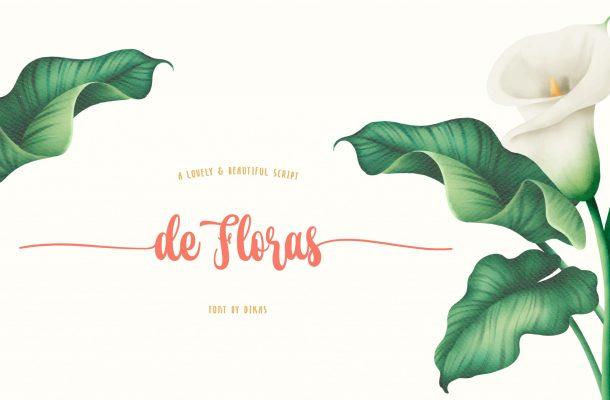 De Floras Script Calligraphy Font
