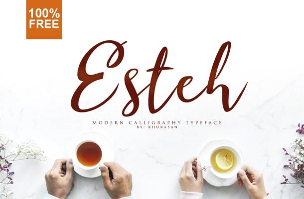 Esteh Script Calligraphy Font