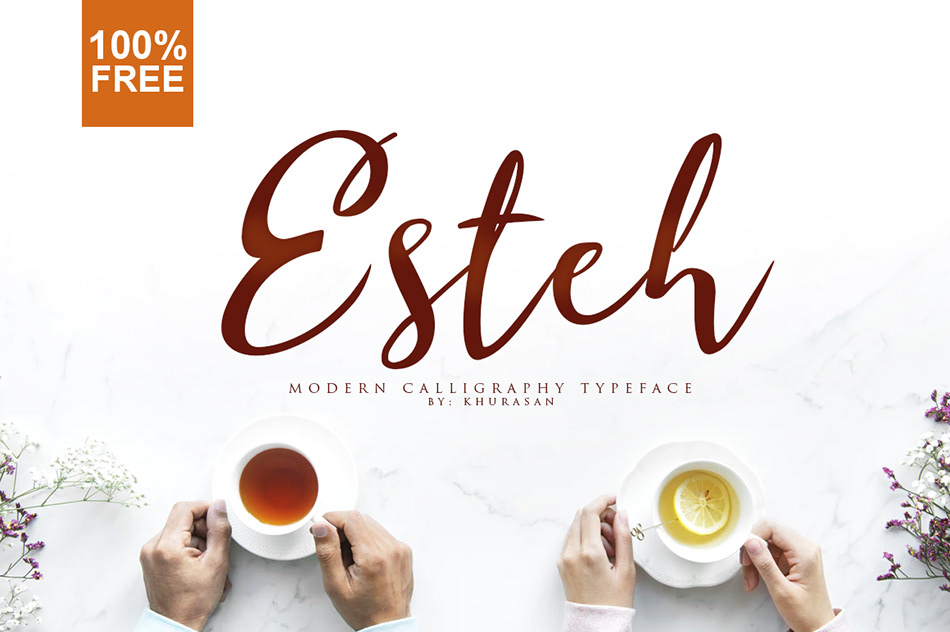 Esteh Script Calligraphy Font-1