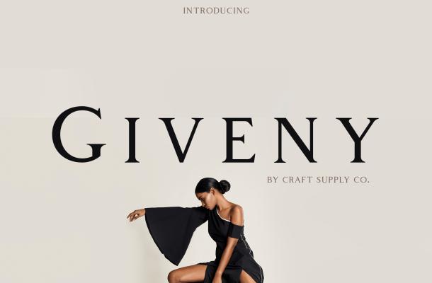 Giveny Classy Serif Font