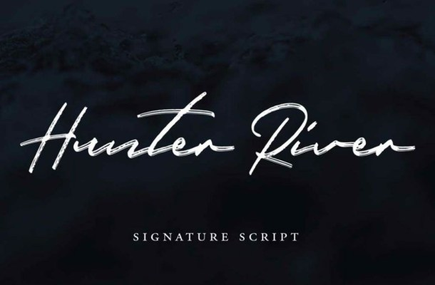 Hunter River Signature Brush Script Font