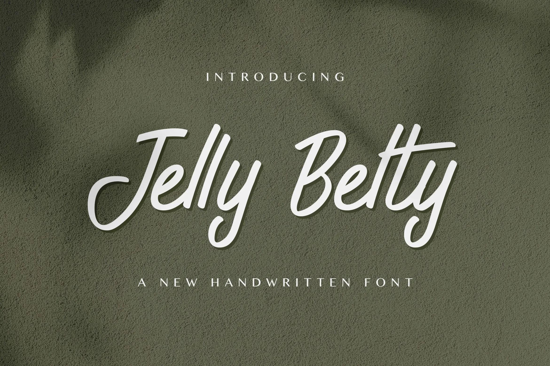 Jelly Belty! Script Handwritten Font-1