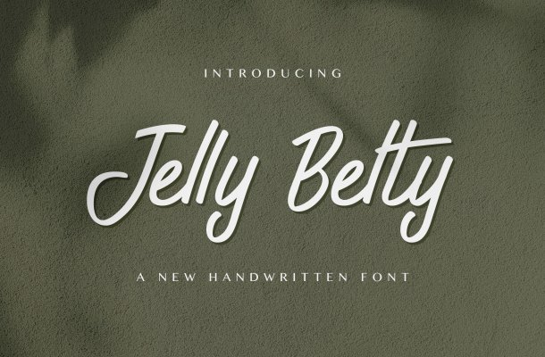 Jelly Belty! Script Handwritten Font