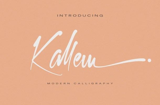Kallem Script Calligraphy Font