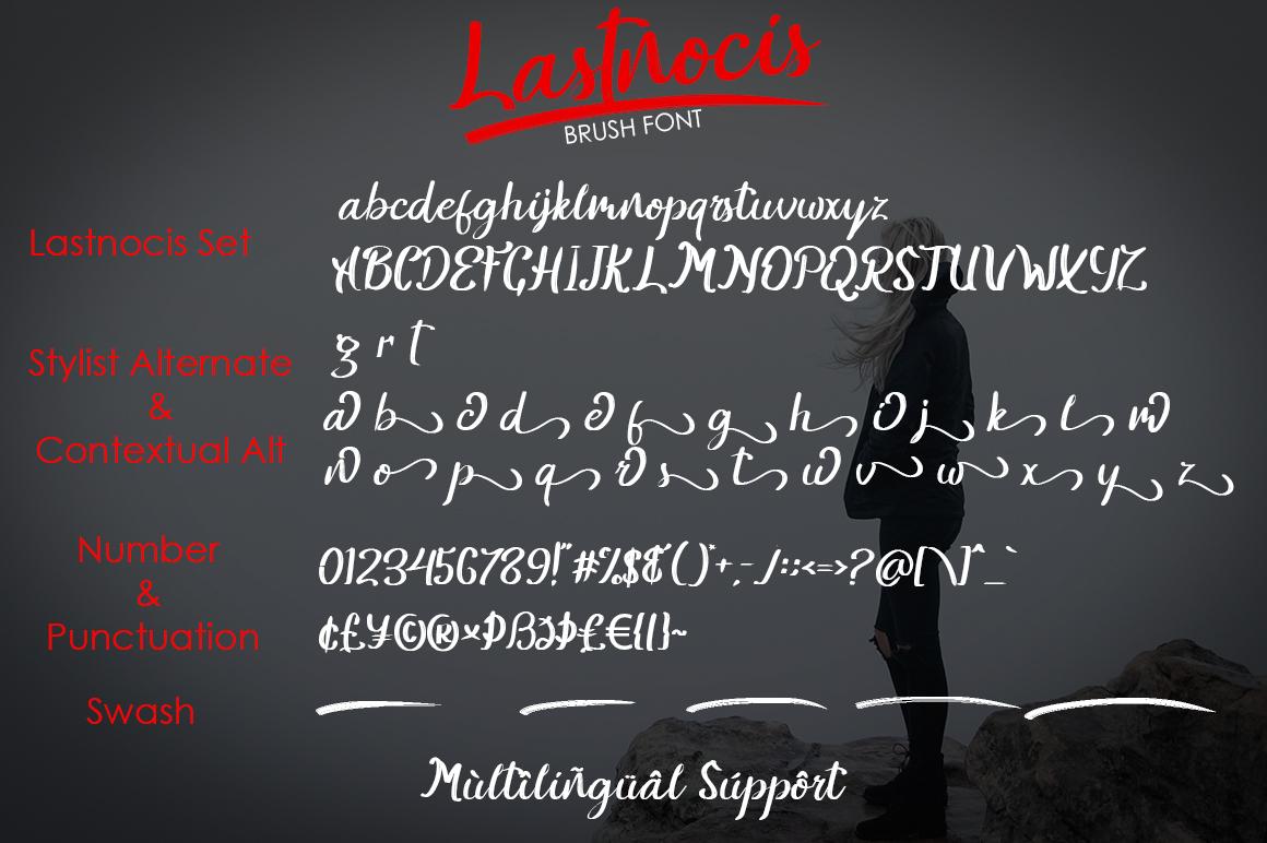Lastnocis Brush Script Font-3