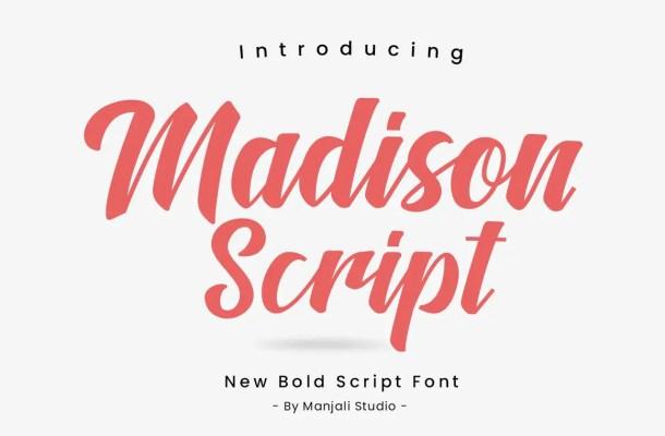 Madison Script Brush Font