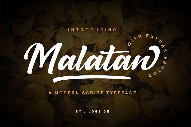 Malatan a Modern Script Typeface-1