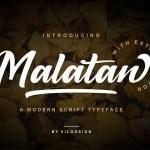 Malatan Modern Script Typeface