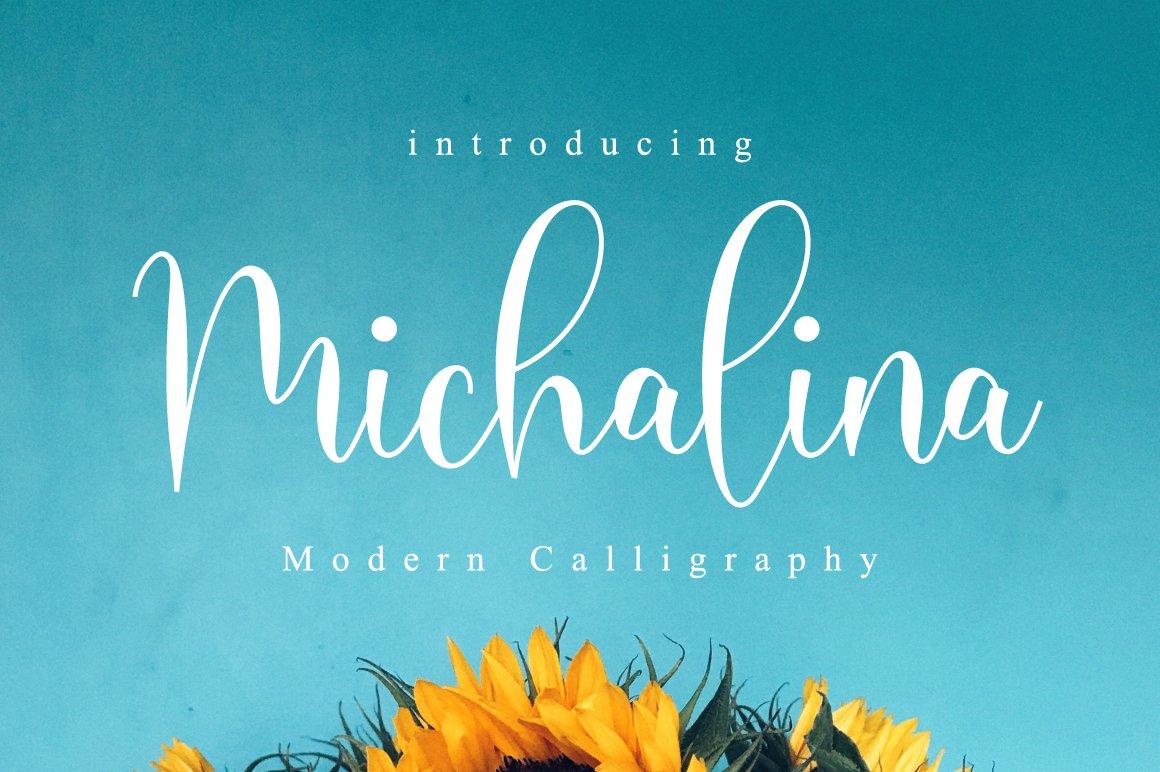 Michalina Script Calligraphy Font-1