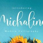 Michalina Script Calligraphy Font