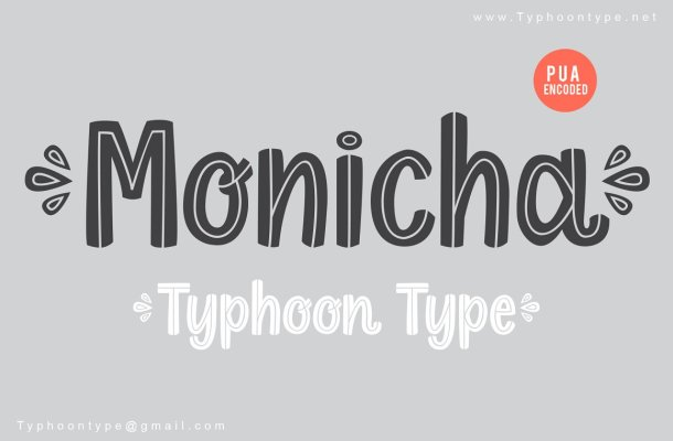 Monicha Fancy Various Font