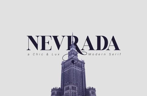 Nevrada Modern Chic Luxury Serif Font