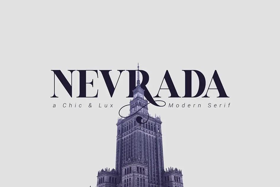 Nevrada Modern Chic Luxury Serif Font-1