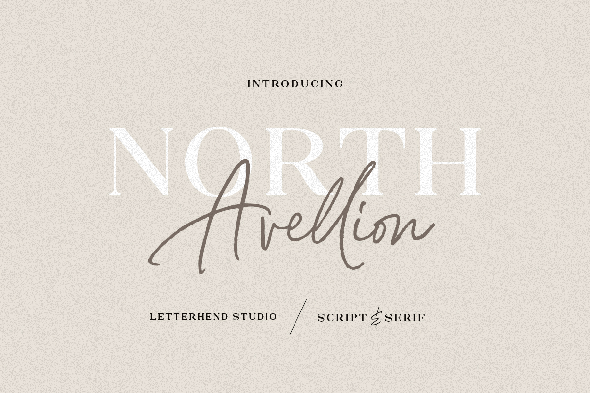 North Avellion Script Serif Duo Font-1