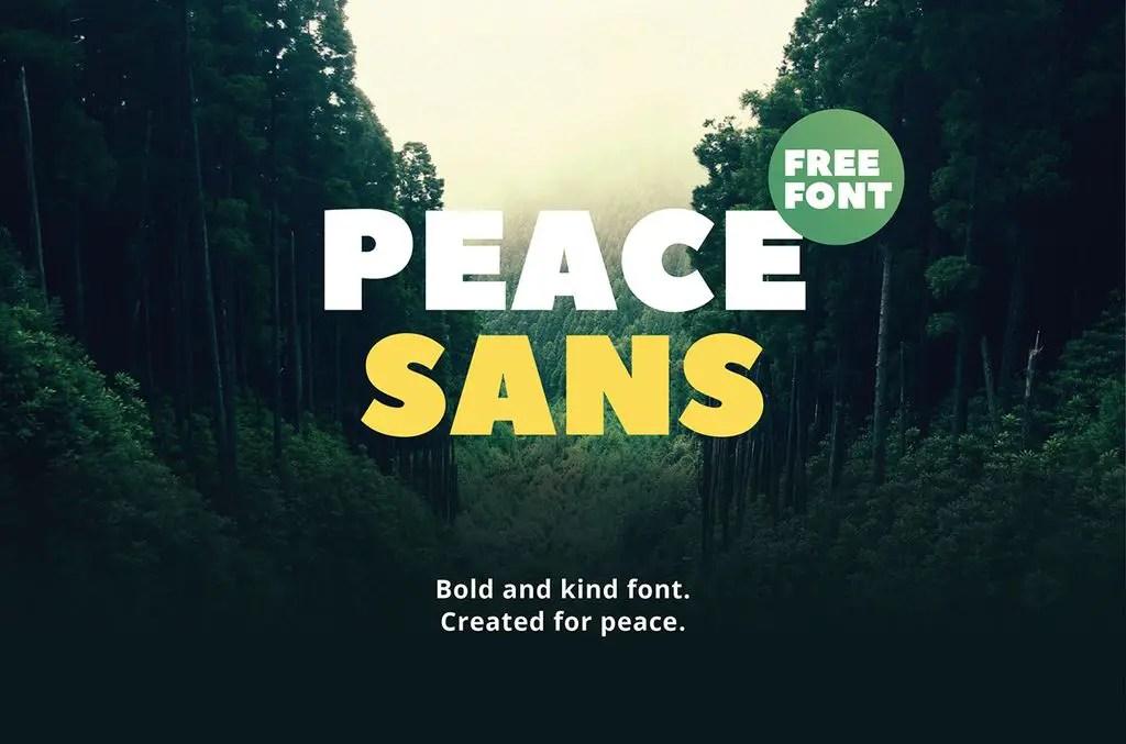 Peace Sans Serif Font-1