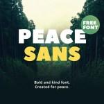 Peace Sans Serif Font