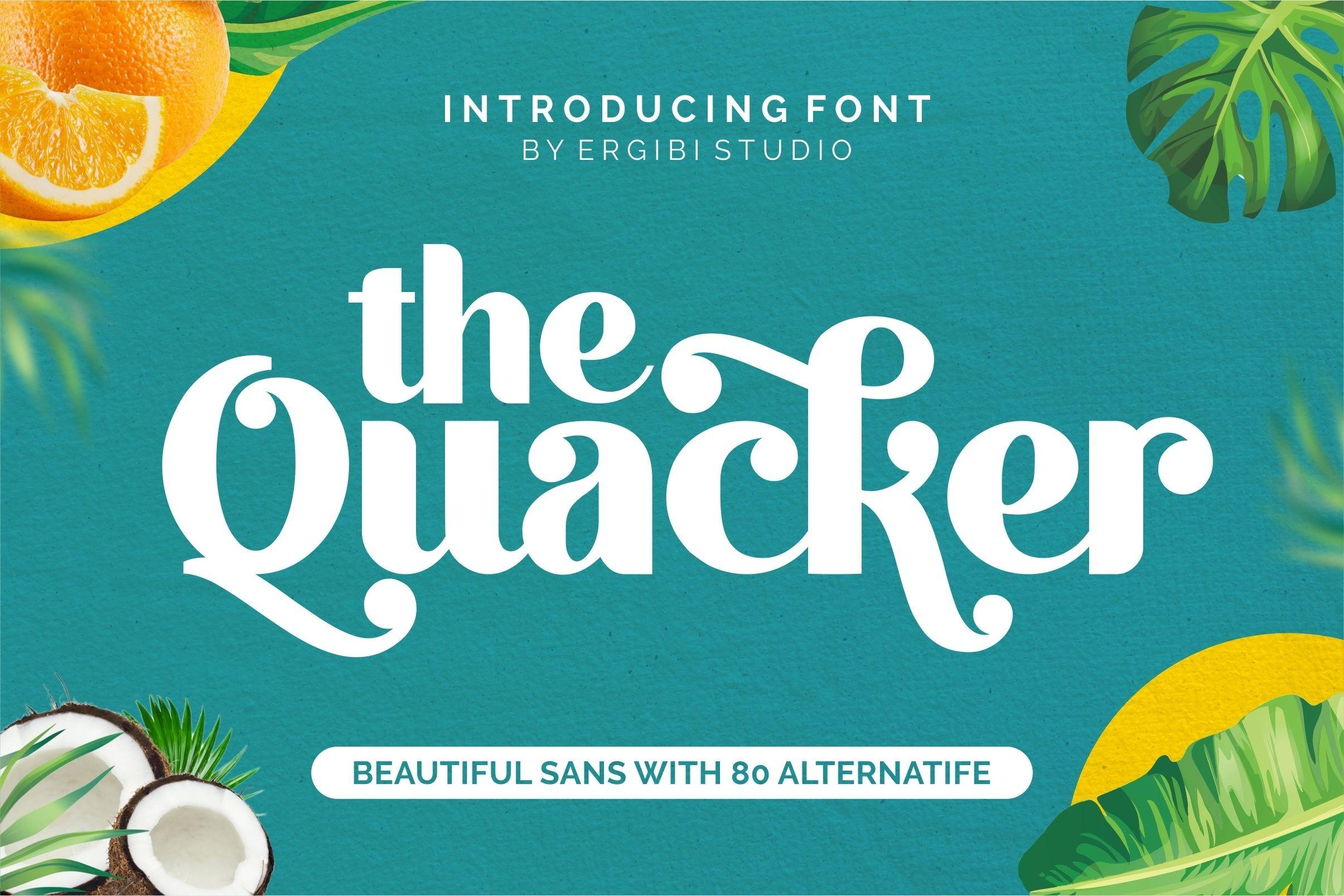 Quacker Sans Serif Font-1