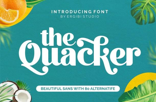 Quacker Sans Serif Font