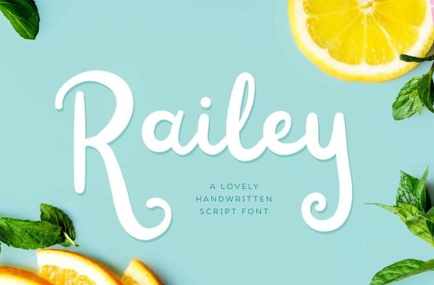 Railey Script Handwritten Font