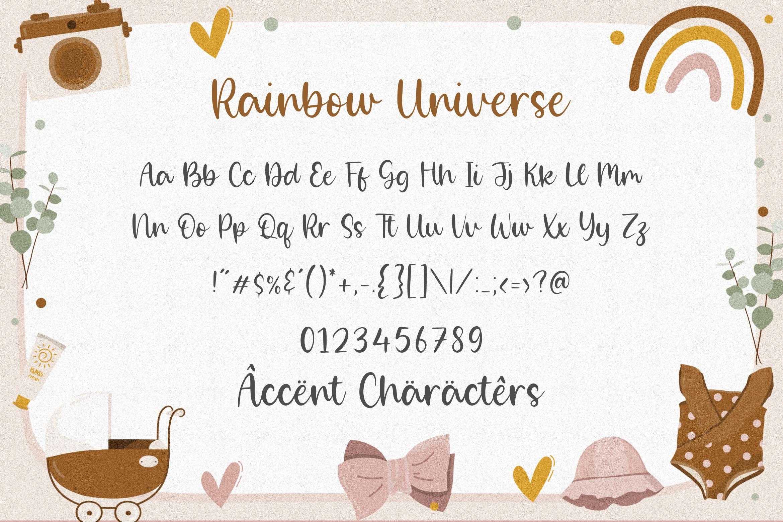 Rainbow Universe Modern Handwritten Font-3