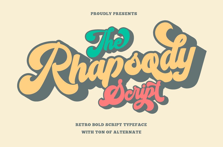 Rhapsody Retro Bold Script Typeface-1
