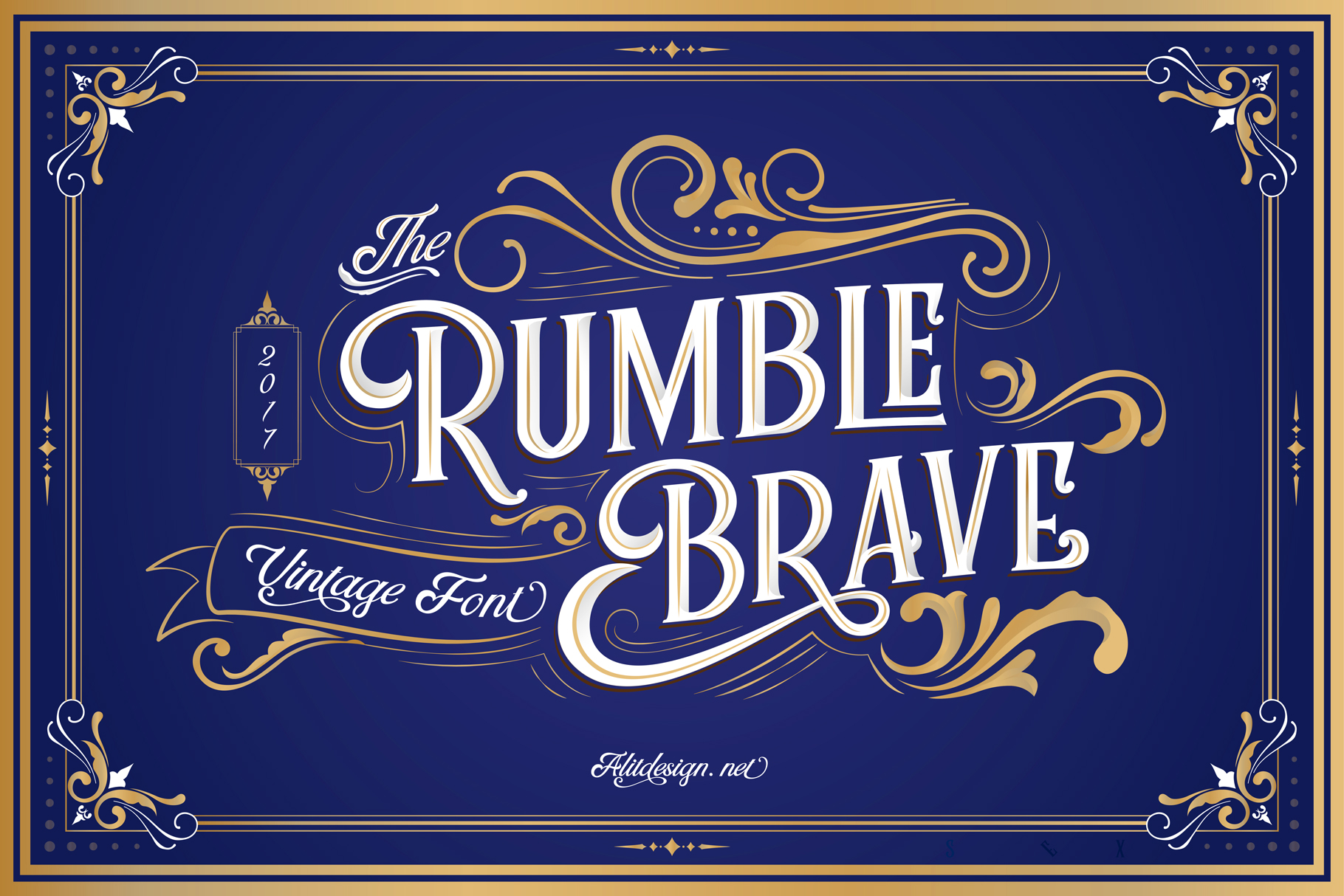 Rumble Brave VIntage Display Font-1