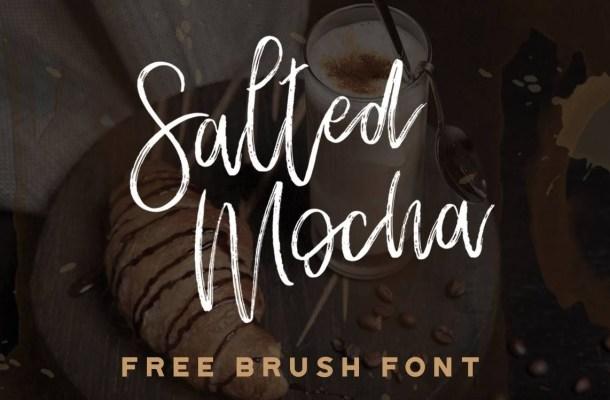Salted Mocha Script Brush Font