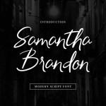 Samantha Brandon Script Handwritten Font