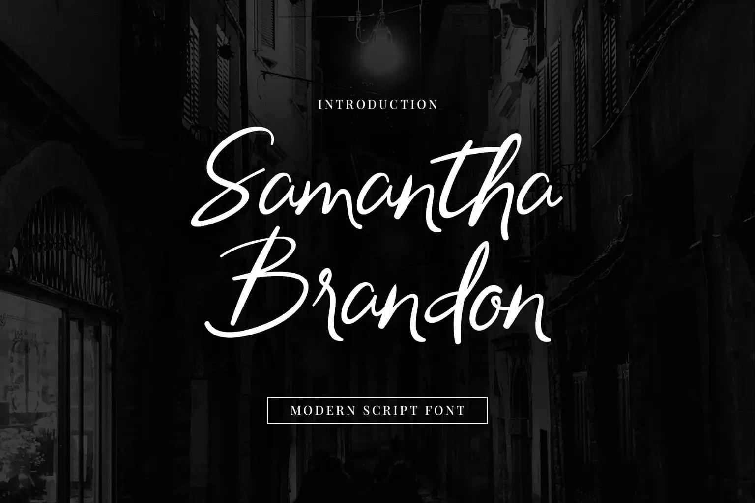 Samantha Brandon Script Handwritten Font-1