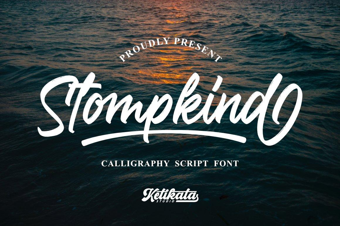 Stompkind Calligraphy Script Font-1