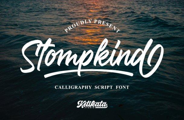 Stompkind Calligraphy Script Font