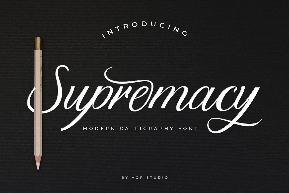 Supremacy Script Calligraphy Font-1