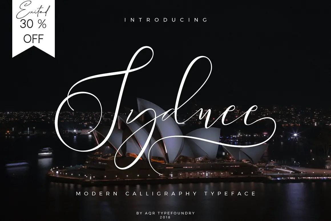 Sydnee Modern Calligraphy Font-1