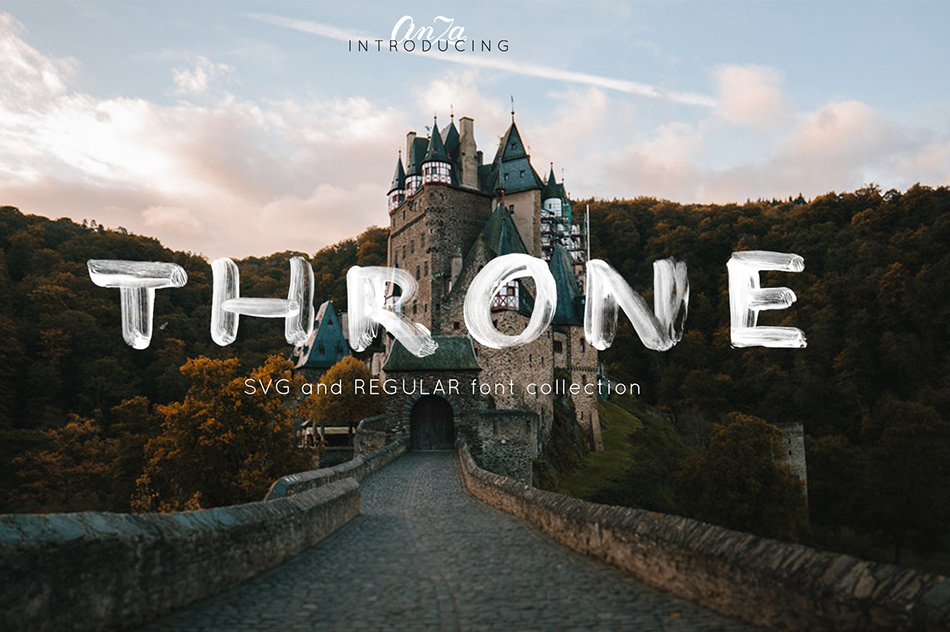 THRONE Script Brush Font-1