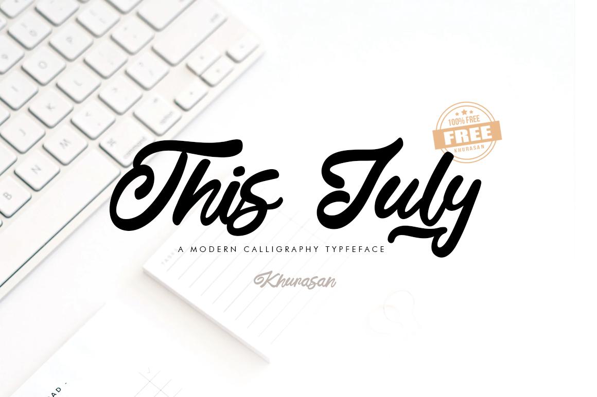 This July Script Handwritten Font-1