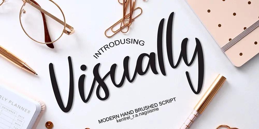 Visually Modern Script Font-1