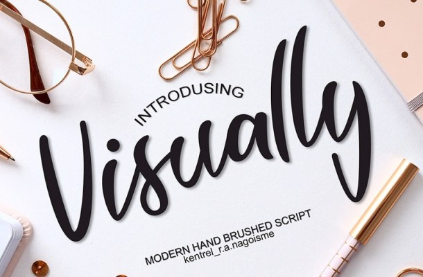 Visually Modern Script Font