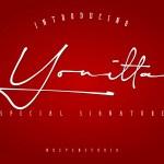 Yonitta Script Handwritten Font