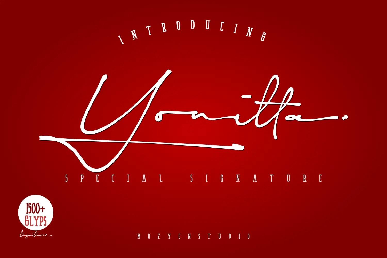 Yonitta Script Handwritten Font-1