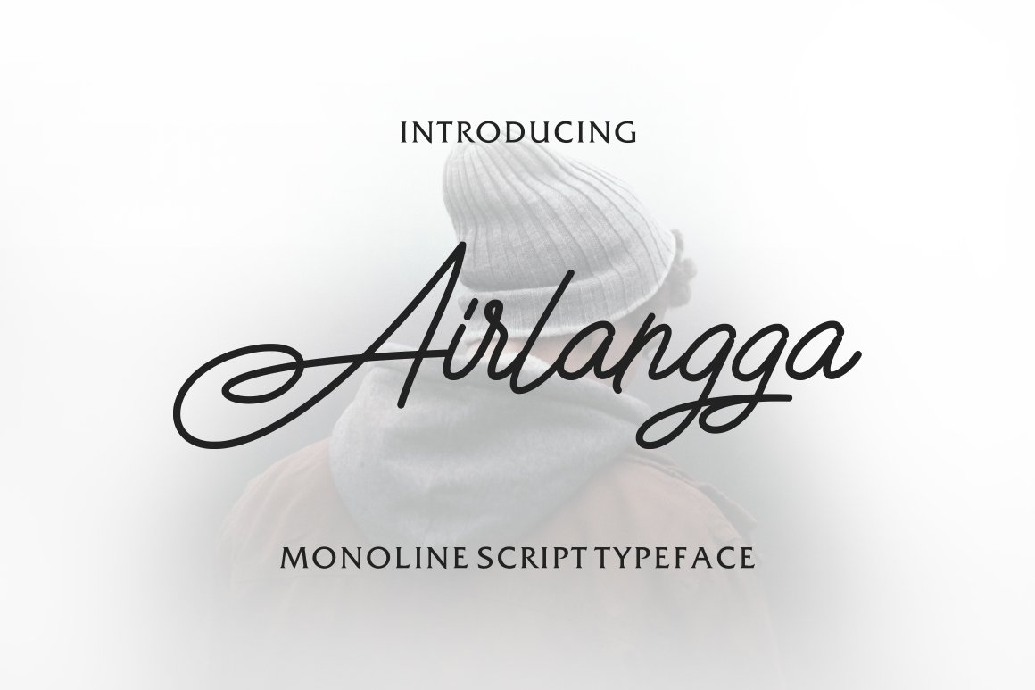 Airlangga Script Handwritten Font-1