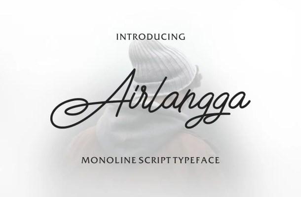 Airlangga Script Handwritten Font