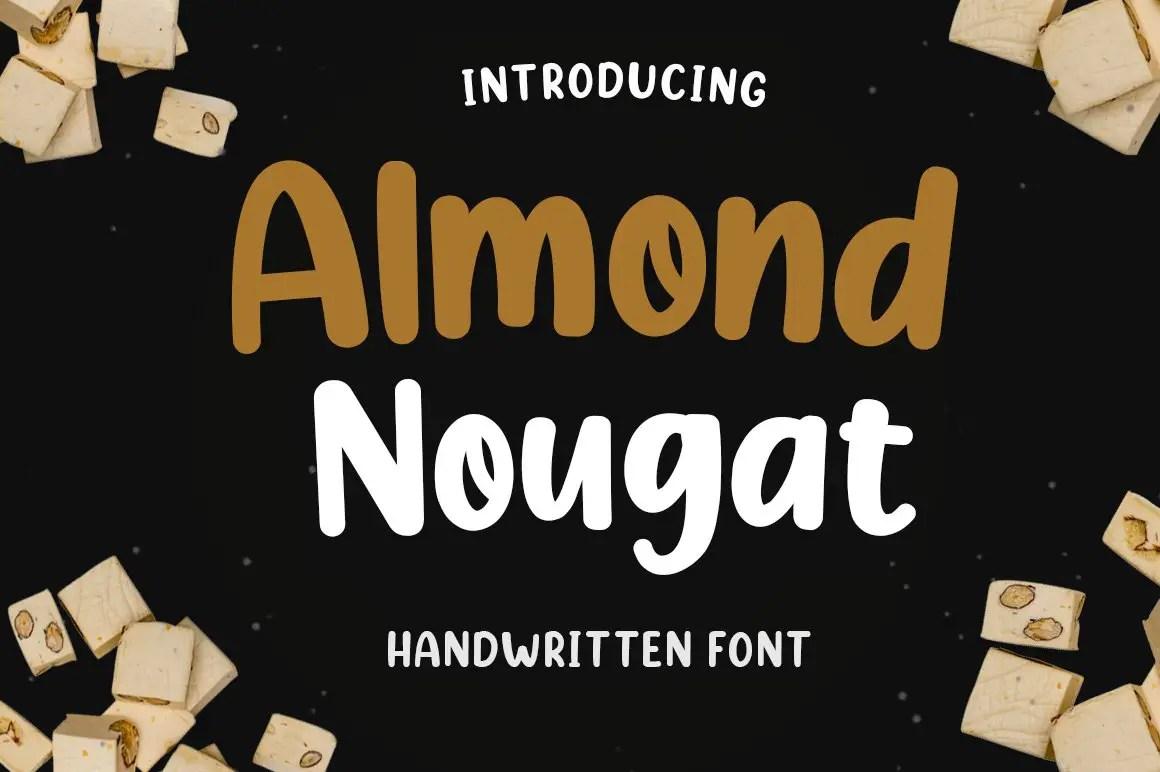 Almond Nougat Fancy Font-1
