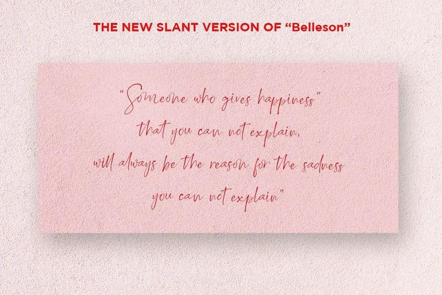 Belleson Luxury Script Font-3