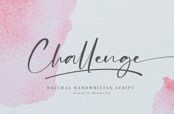 Challenge Handwritten Script Font