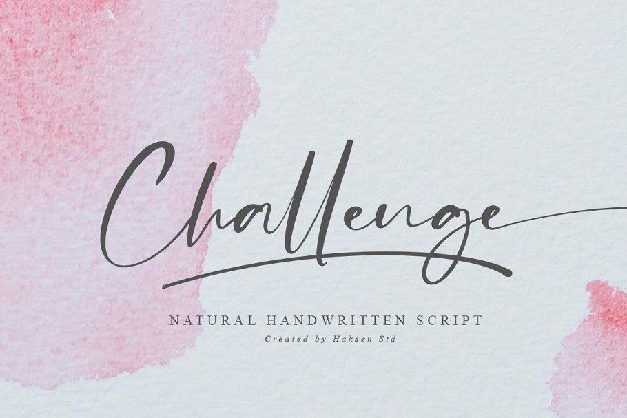 Challenge Handwritten Script Font-1