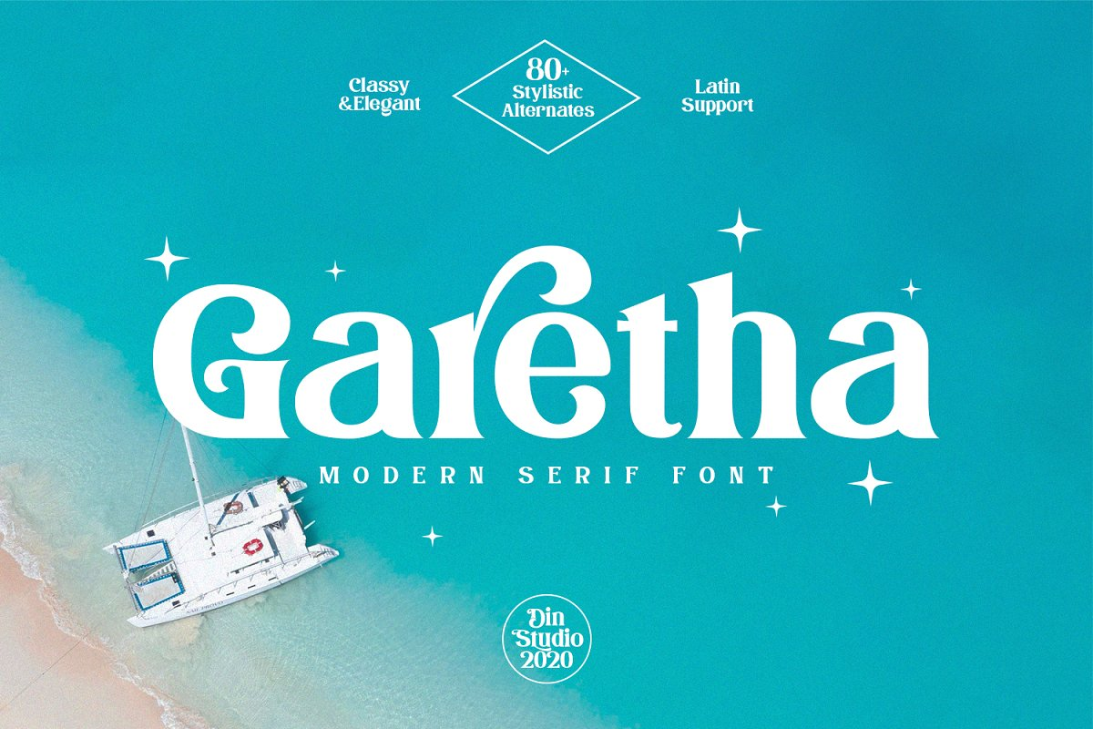 Garetha Modern Serif Font-1